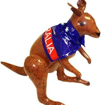Inflatable: Kangaroo with Australia cape