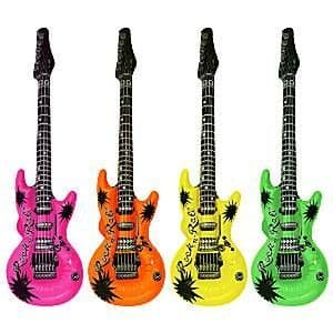Inflatable: Neon Inflatable Rock Guitar - 106cm (each)