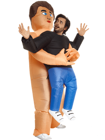 Inflatable: Pick Me Up Naked Guy Inflatable Adult Costume