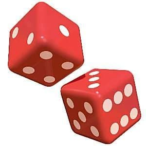 Inflatables: 30cm Casino Inflatable Dice x2pk