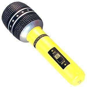 Inflatables: 40cm Inflatable Microphone (each)