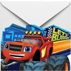 Invitations: Blaze and the Monster Machines Invitations and Envelopes (8pk)