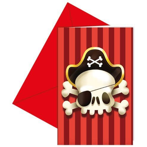 Invitations: Powerful Pirates Invites x6pk