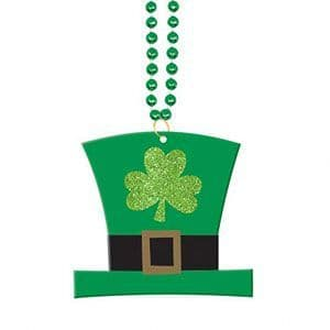 Jewellery: Leprechaun Hat Pendant - St Patrick's Day Necklace (each)