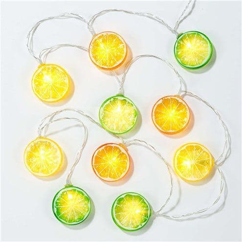 Lights: Tropical Fiesta Fruit Slice String lights - 1.5m with Presentation Jar