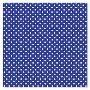 Napkins: Any Day or Night Navy Blue Polka Dot Napkins 3ply x20pk