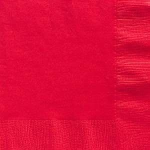 Napkins: Apple Red Party Paper Dinner Napkins 3ply x20pk