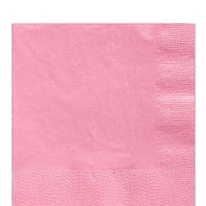 Napkins: Baby Pink Luncheon Napkins - 2ply Paper (50pk)