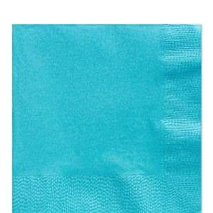 Napkins: Caribbean Turquoise Party Paper Luncheon Napkins 3ply 50pk