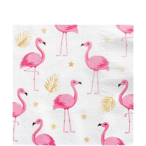 Napkins: Flamingo Luncheon Napkins - 33cm x12pk