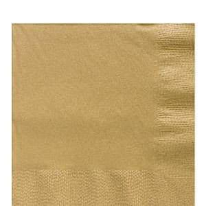 Napkins: Gold Luncheon Napkins - 2ply Paper (50pk)