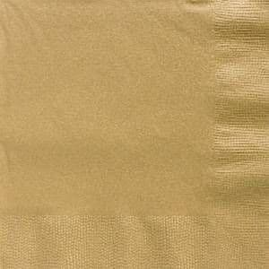 Napkins: Gold Party Paper Dinner Napkins 3ply (50pk)