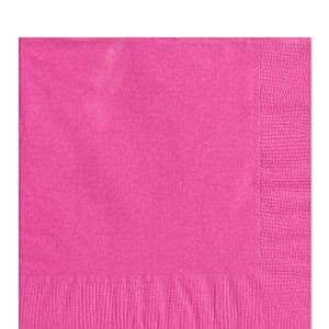 Napkins: Hot Pink Luncheon Napkins - 2ply Paper (50pk)