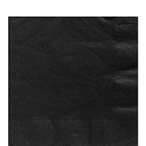 Napkins: Jet Black Party Paper Luncheon Napkins 2ply x50pk