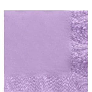 Napkins: Lilac Luncheon 2ply Paper Napkins - (50pk)