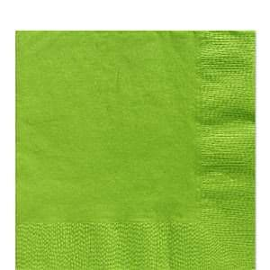 Napkins: Lime Green Luncheon Napkins - 3ply Paper (20pk