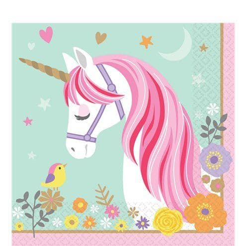 Napkins: Magical Unicorn Paper Luncheon Napkins - 33cm x16pk