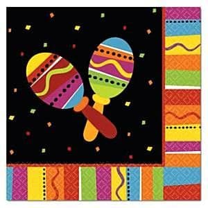 Napkins: Mexican Fiesta Party Luncheon Napkins 33cm (16pk)