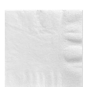 Napkins: White Luncheon Napkins - 2ply Paper (50pk)