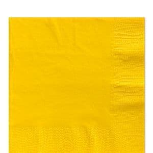 Napkins: Yellow Sunshine Luncheon Napkins - 2ply Paper (50pk)