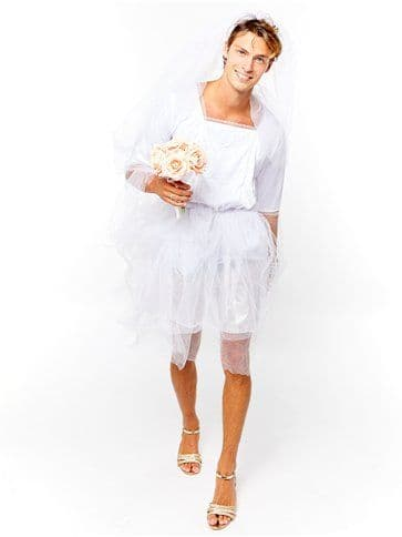 Novelty: Adult Male Bride Man - Adult Costume