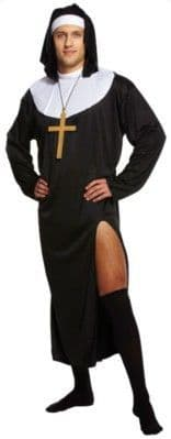 Novelty: Adult Male Nun Stag Night Fancy Dress Costume