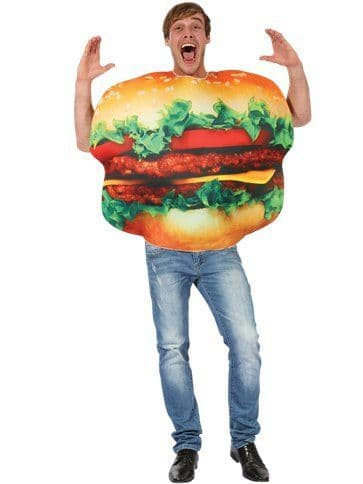 Novelty: Burger - Adult Costume (Size: 36-46