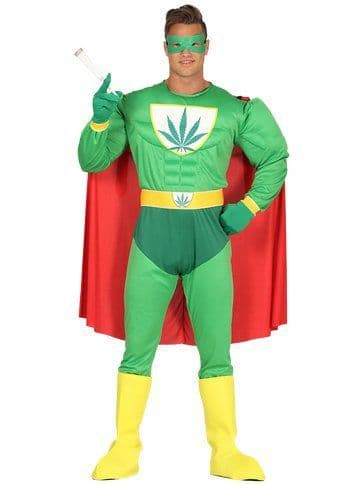 Novelty: Marijuana Man - Adult Costume (size 42