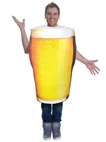 Novelty: Pint of Beer - Adult Costume ( Size: 36-42