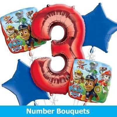 Number & Letter Bouquets Inflated