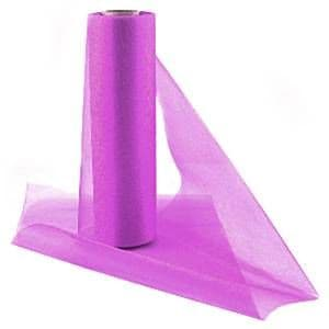Organza Drapes: Fuschia Organza Sheer Roll - 25m
