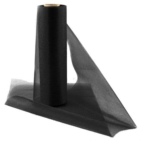 Organza Drapes: Organza Sheer Roll Black - 25m (each)