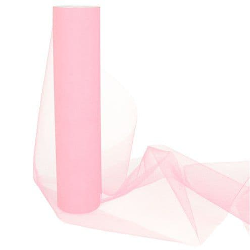 Organza Drapes: Pink Tulle Roll - 30cm x 25m