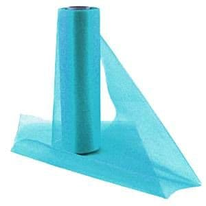 Organza: Turquoise Organza Sheer Roll - 25m