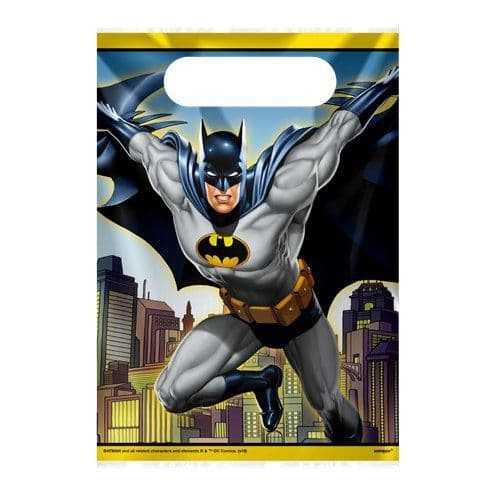 Party Bags: Batman Plastic Party Bags (8pk)
