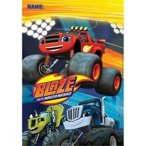 Party Bags: Blaze and the Monster Machines Party Plastic Loot Bags (8pk)