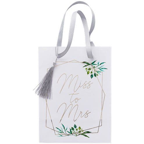 Party Bags: Botanical Hen Miss To Mrs Paper Party Bags x5pk