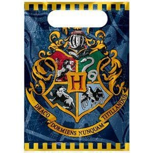 Party Bags: Harry Potter Party Bags - Plastic Loot Bags x8pk