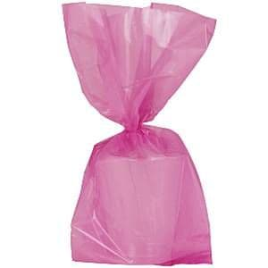 Party Bags: Hot Pink Small Cello Party Bags - 24cm x25pk