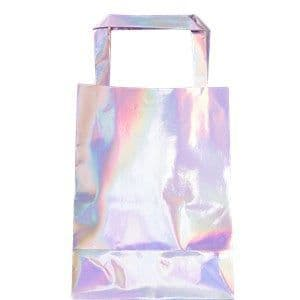 Party Bags: Iridescent Party Bags - Plastic Loot Bags x5