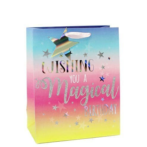 Party Bags: Magical Birthday Medium Gift Bag - 25cm x1