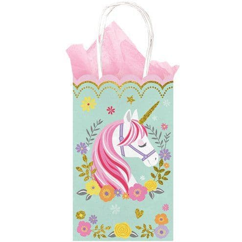 Party Bags: Magical Unicorn Glittery Paper Party Bags x10pk