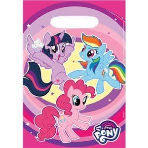 Party Bags: My Little Pony Party Bags - Plastic Loot Bags x8pk