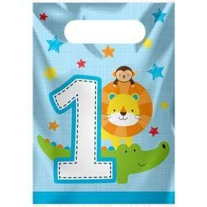 Party Bags: One is Fun Boy Loot Bags x8pk