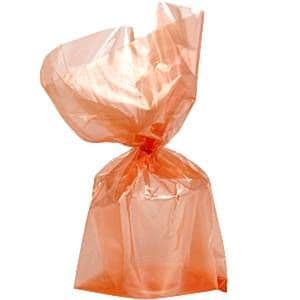 Party Bags: Orange Cello Party Bags (25pk)