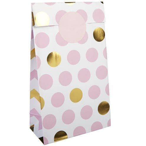 Party Bags: Pattern Works Pink Polka Dot Party Bags x5pk