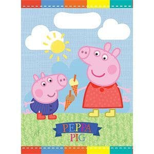 Party Bags: Peppa Pig Party Bags - Plastic Loot Bags (8pk)