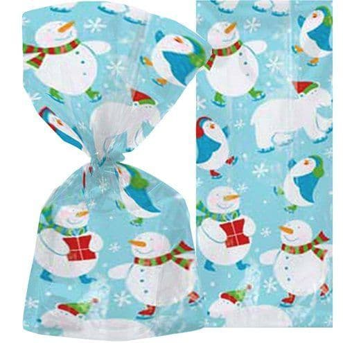 Party Bags: Polar Pals Christmas Cello Bags - 30cm x20pk