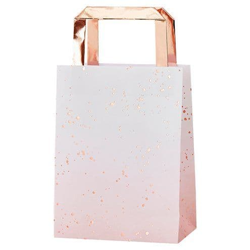 Party Bags: Rose Gold Ombre Foiled Party Bags x5pk
