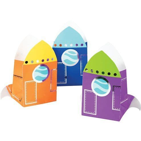 Party Bags: Space Paper Treat Bags x8pk